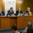 De izda. a dcha.: Ramón-Darío Molinary; Josep Ramon Bosch ; Ramón Tamames y Gonzalo Sol
