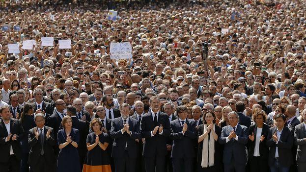 Barcelona se une en el rechazo al terrorismo