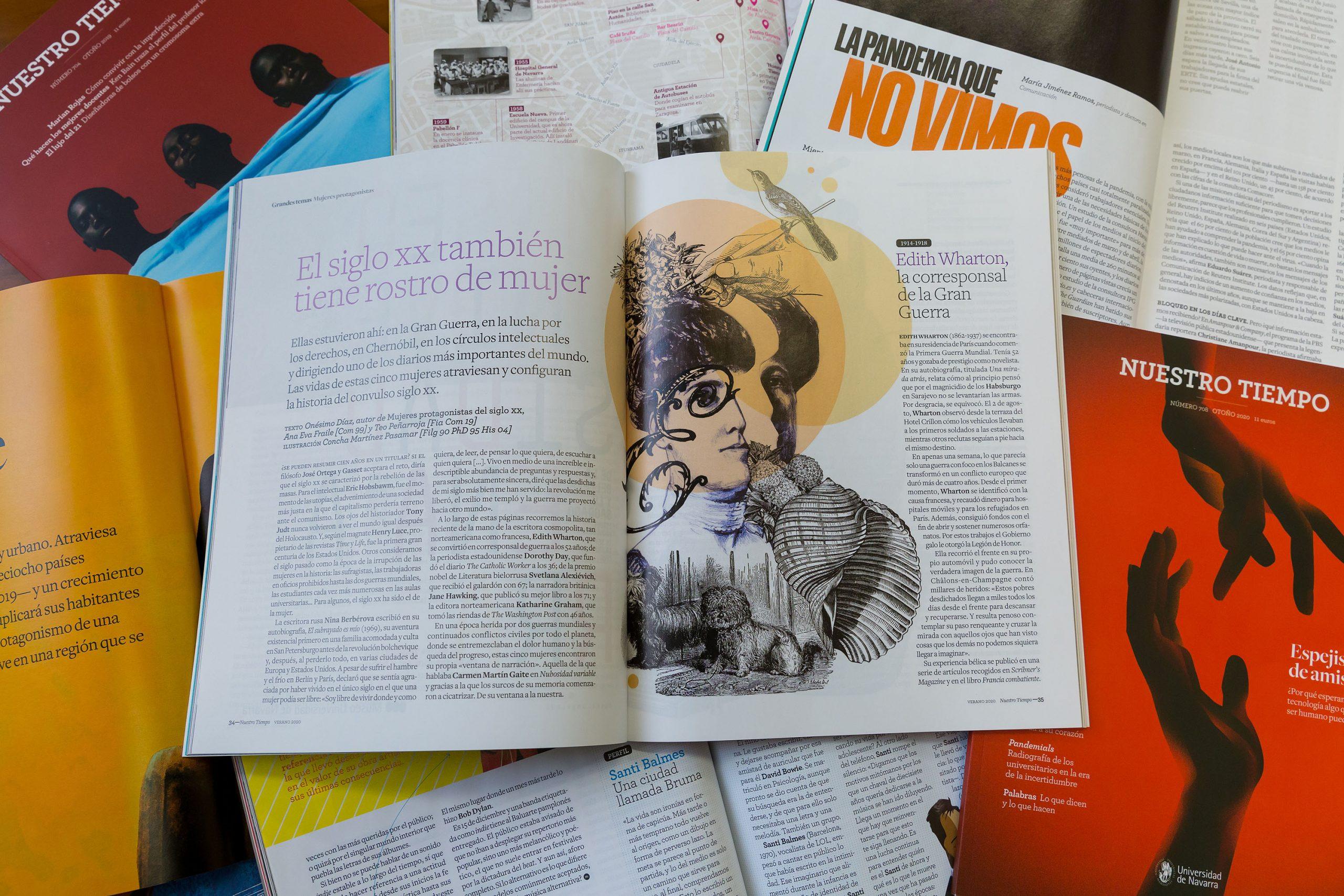 La revista Nuestro Tiempo, de la Universidad de Navarra, oro al mejor diseño